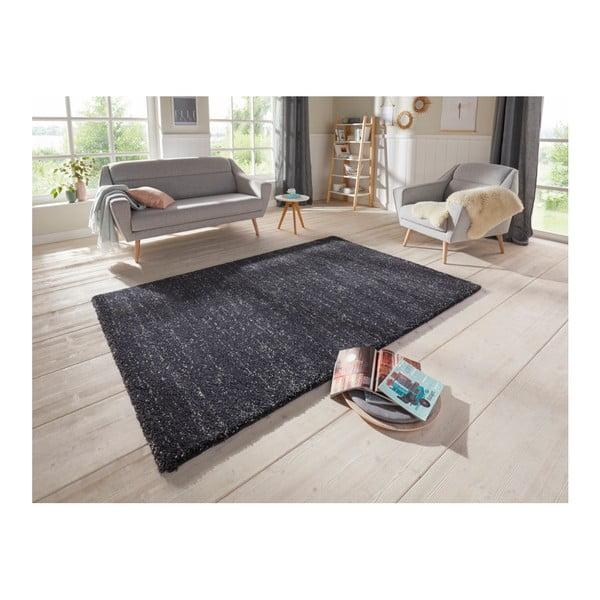 Antracitový koberec Elle Decor Passion Orly, 80 x 150 cm
