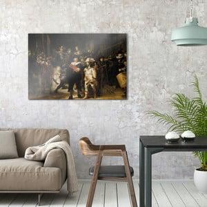 Skleněný obraz OrangeWallz War, 76 x 114 cm