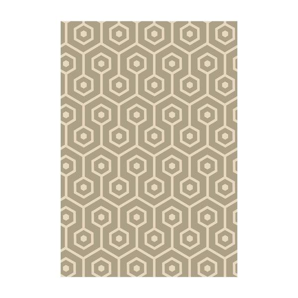 Koberec z vinylu Hexagonos Beige, 99x120 cm