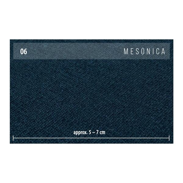 Tyrkysově modrá pohovka s lenoškou na pravé straně MESONICA Toro