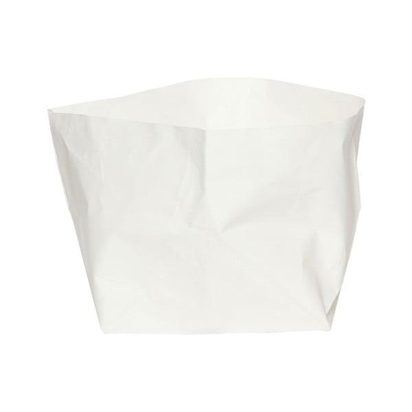 Suport pentru ghiveci din hârtie lavabilă Furniteam Plant, înălțime 27 cm, alb