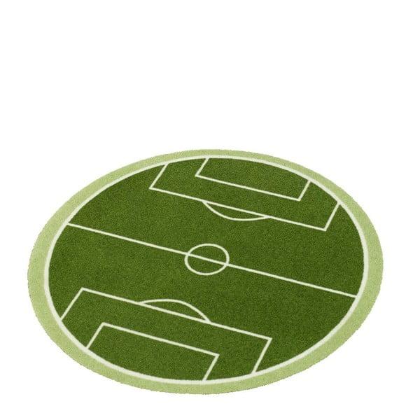 Dětský zelený koberec Zala Living Football Field, ⌀100cm