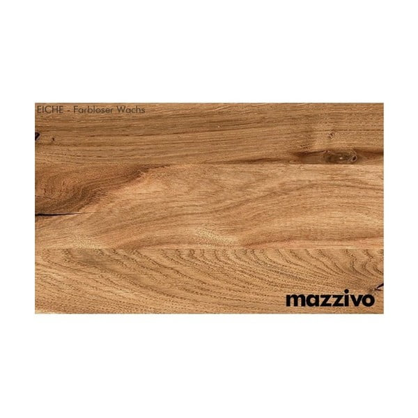 Postel z voskovaného dubového dřeva Mazzivo Lugo, 200x220cm