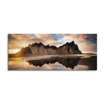 Tablou imprimat pe pânză Styler Iceland, 150 x 60 cm