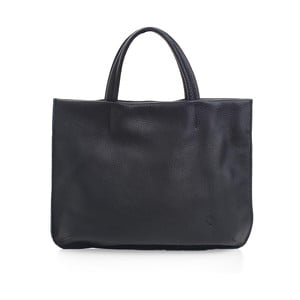 Černá kožená kabelka Woox Avita