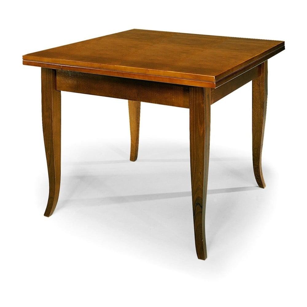 Dřevěný rozkládací jídelní stůl Castagnetti Noce, 80 x 80 cm