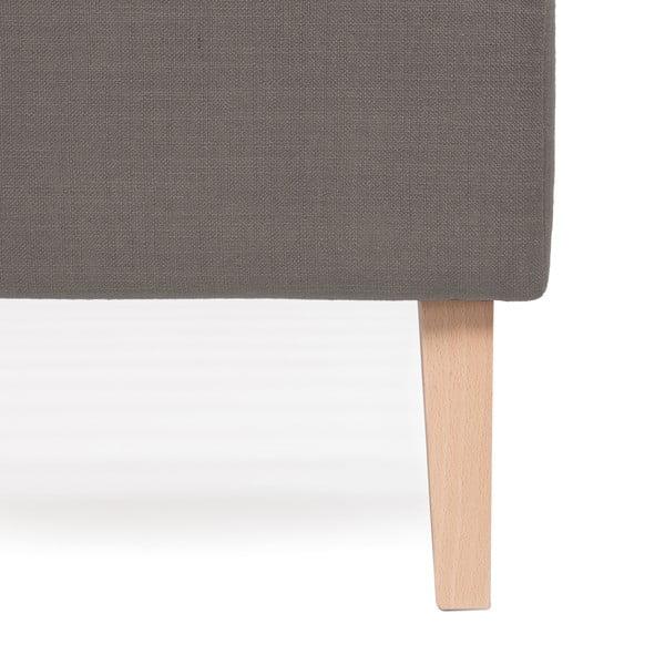Šedá postel Vivonita Kent Linen, 200x140cm