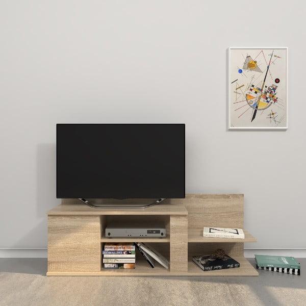 Hnědý TV stolek Marshall, šířka120cm