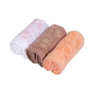 Sada 3ks ručníků Serviettes, 30x50 cm