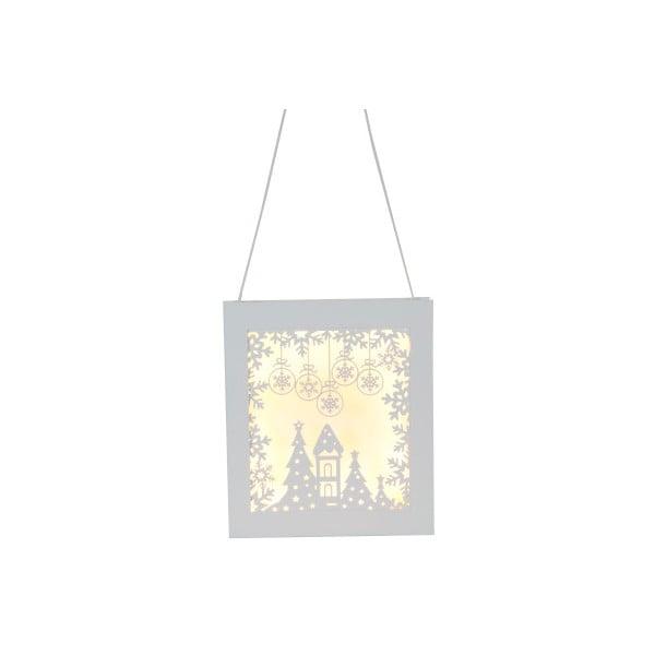 Závěsná svítící dekorace Best Season Frame Snowflake