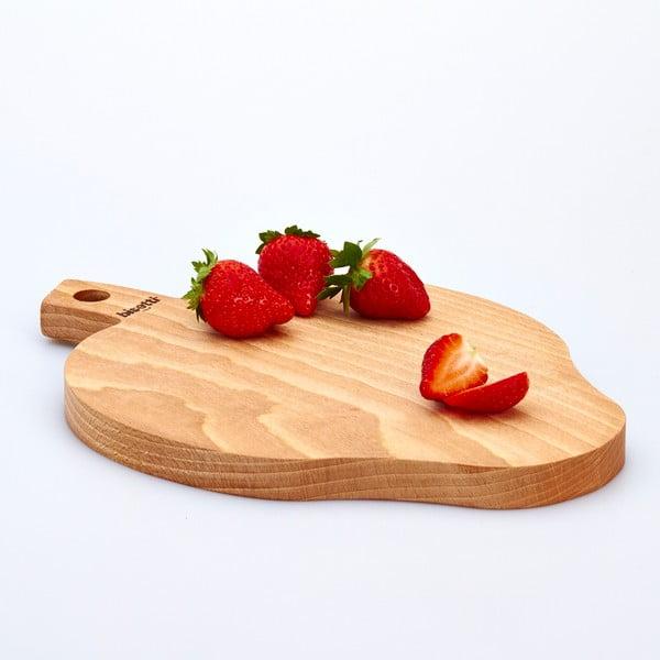 Bukové krájecí prkénko Strawberry, 23x32 cm