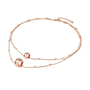 Dámský náhrdelník v barvě růžového zlata Tassioni Jingle