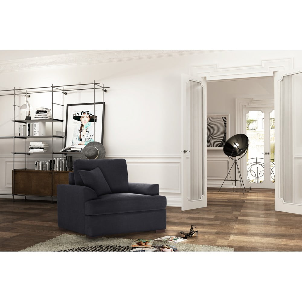 fotoliu jalouse maison irina negru bonami. Black Bedroom Furniture Sets. Home Design Ideas