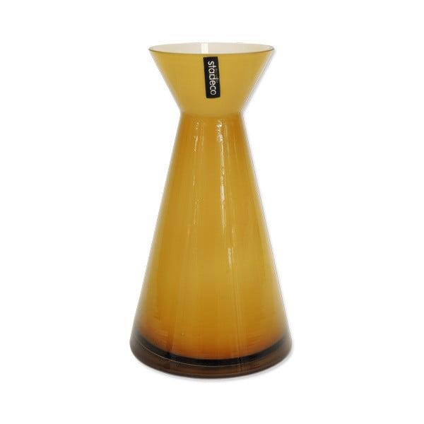 Skleněná váza Istra, oranžová
