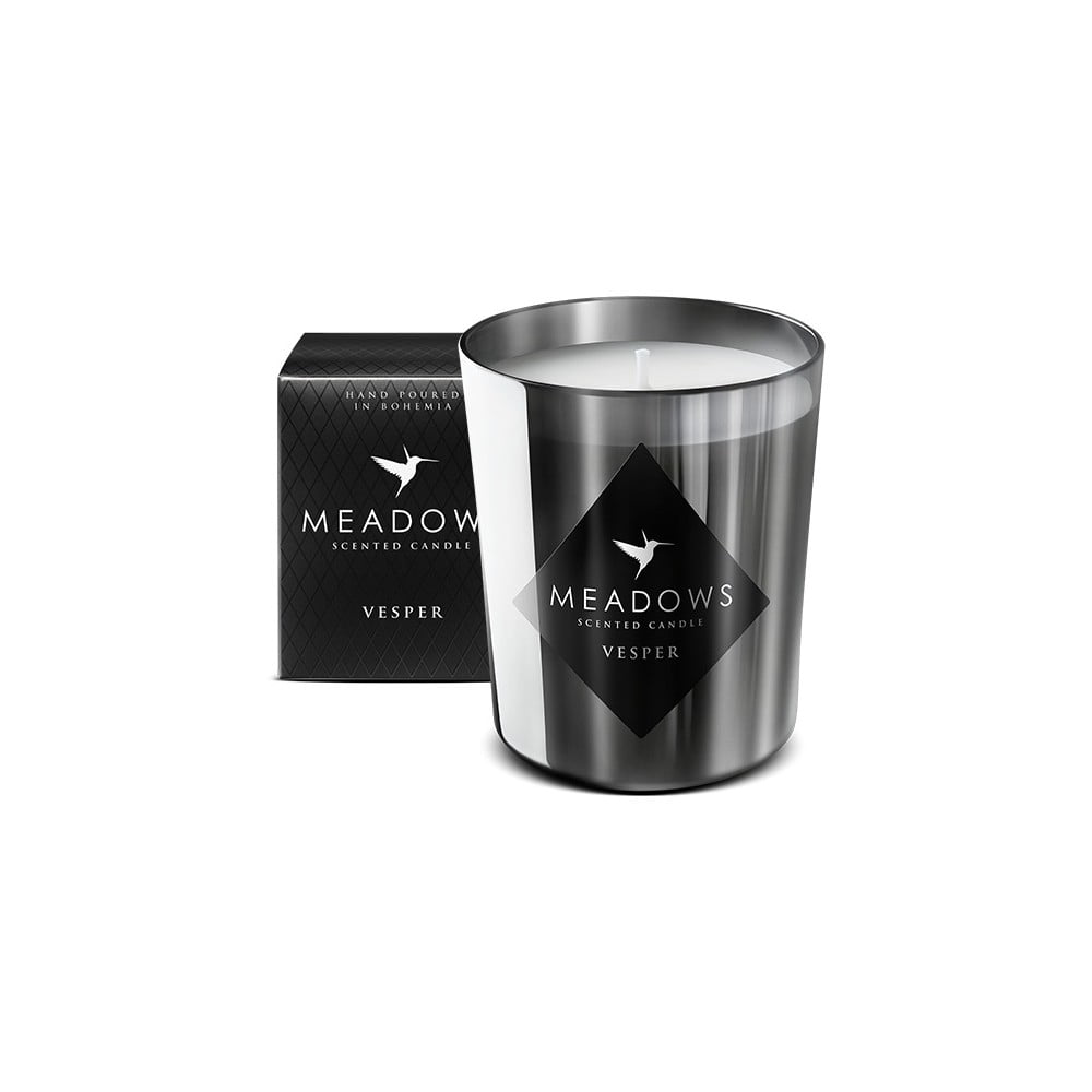 Svíčka s vůní cedru, santalového dřeva, vanilky a feferonky Meadows Vesper, 60 hodin hoření