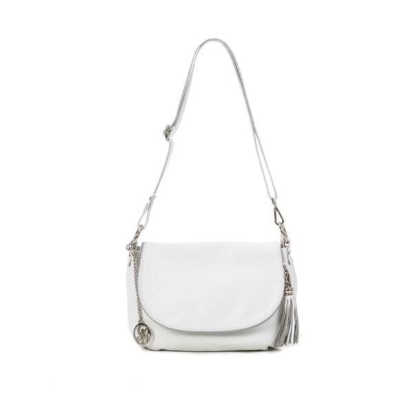 Kožená kabelka Paolo, bílá