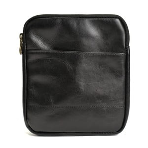 Černá kožená kabelka Renata Corsi Hartenna