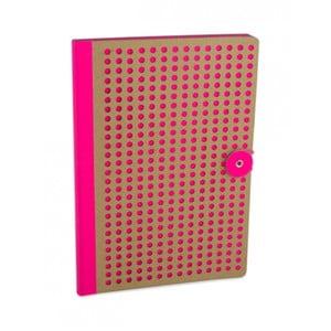 Růžový zápisník Portico Designs Laser, 160stránek