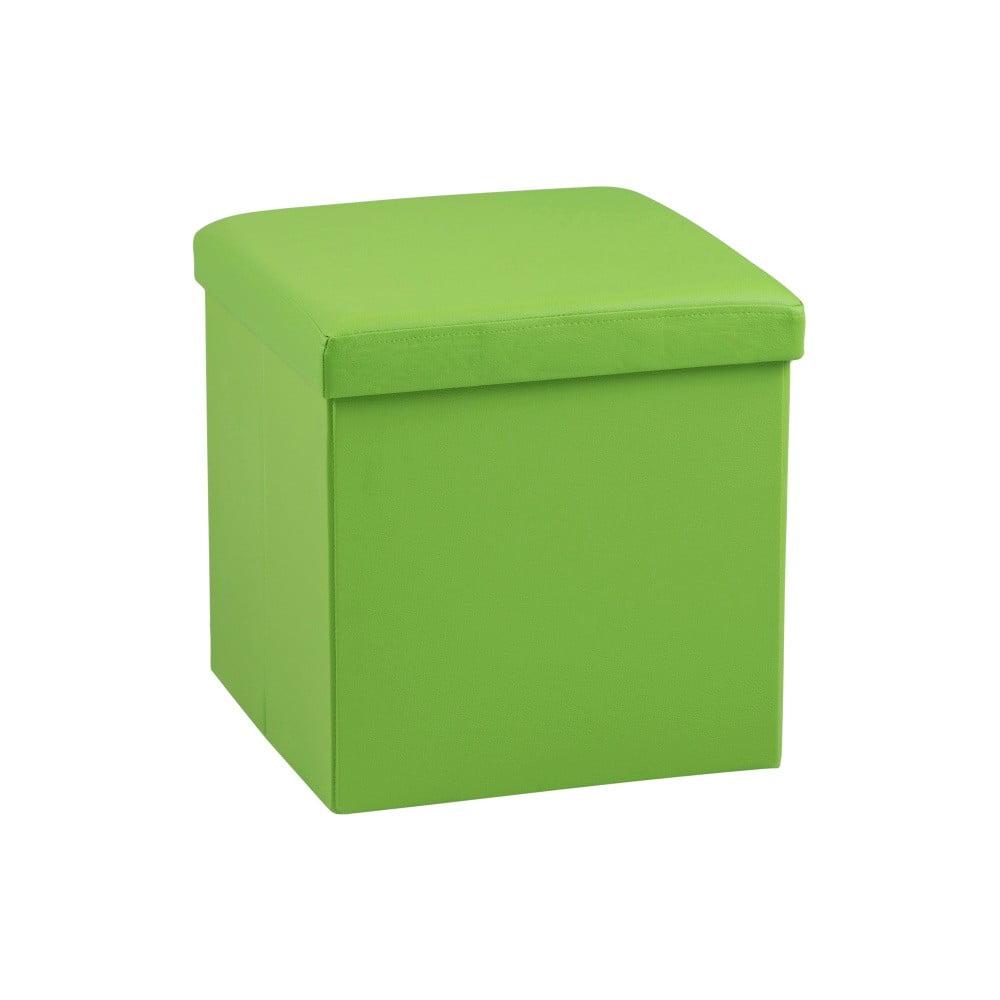 Produktové foto Zelená taburetka s úložným prostorem Actona Sada