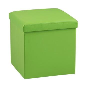 Taburet cu spațiu depozitare Auf, verde de la Actona