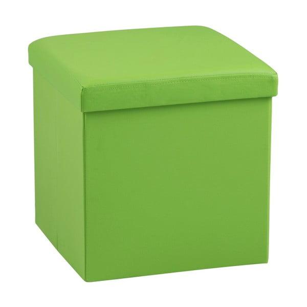 Taburet cu spațiu depozitare Auf, verde