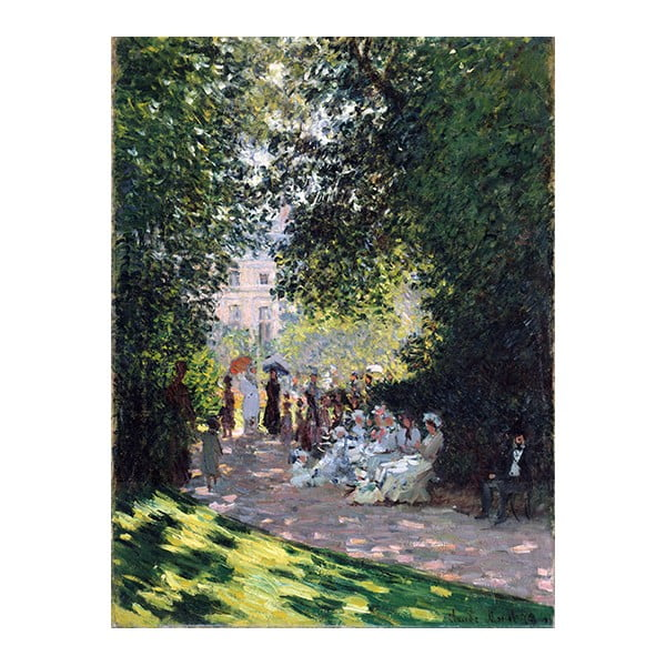 Obraz Claude Monet - The Parc Monceau, 40x30 cm