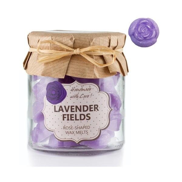 Sada 18 malých vonných svíček Lavender Fields