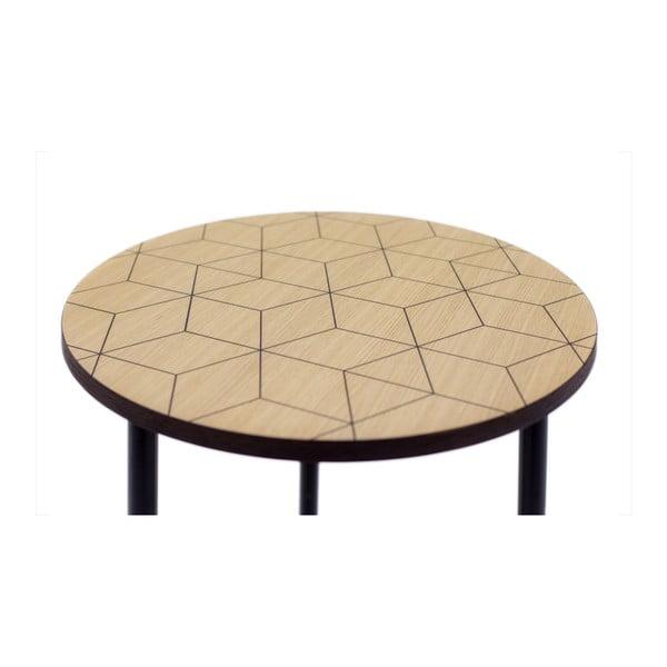 Kulatý příruční stolek Woodman Arty Triangle 50
