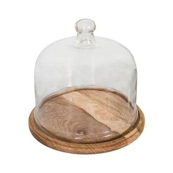Tavă din lemn pentru brânzeturi cu capac din sticlă Antic Line imagine