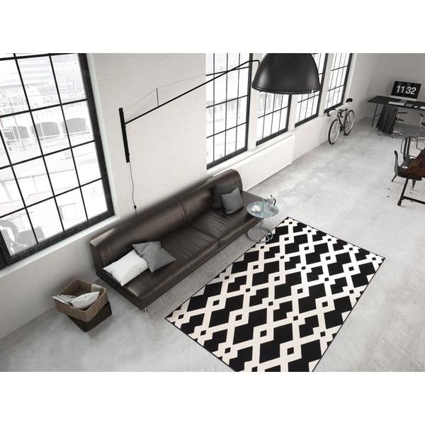 Černo-bílý koberec Kayoom Stella 100 Black, 120x170cm