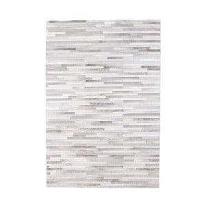 Šedý koberec z hovězí kůže Arctic Fur Patchwork Rug Shadows, 180 x 120 cm