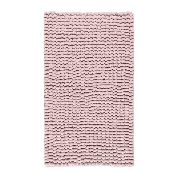Růžová koupelnová předložka Aquanova Luka, 60x100cm