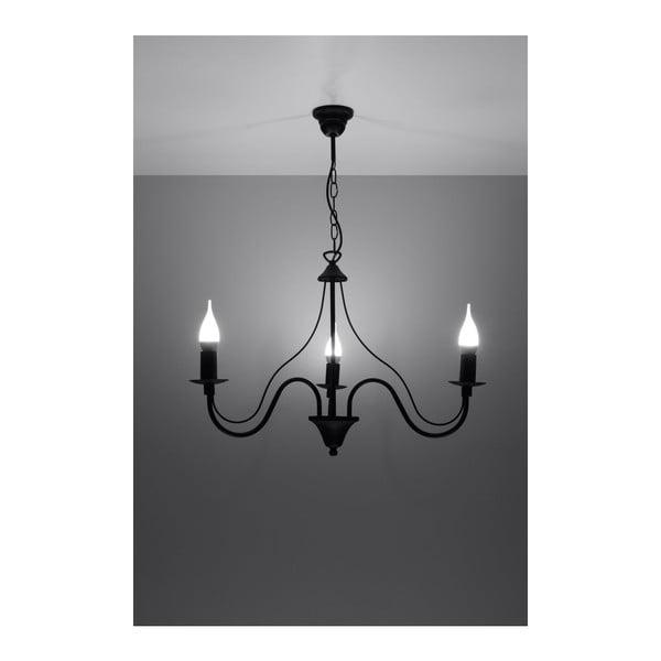 Černé závěsné svítidlo Nice Lamps Floriano 3
