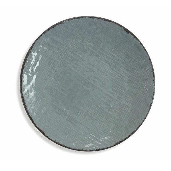 Sada 6 tmavě šedých kameninových talířů Villad'Este Canapa