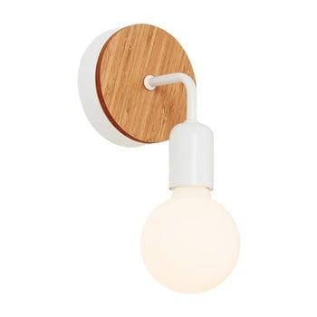 Aplică cu detalii din lemn Homemania Valetta, alb imagine