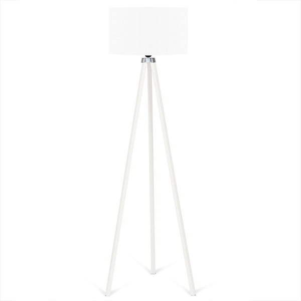 Biała lampa wolnostojąca z białym kloszem Kate Louise Beyaz