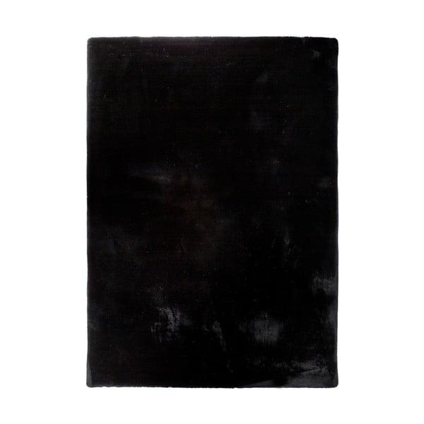 Černý koberec Universal Fox Liso, 80 x 150 cm