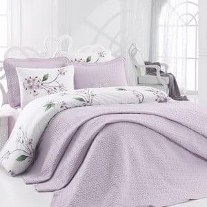 Lenjerie de pat cu cearșaf Lilac Lila, 200 x 220 cm