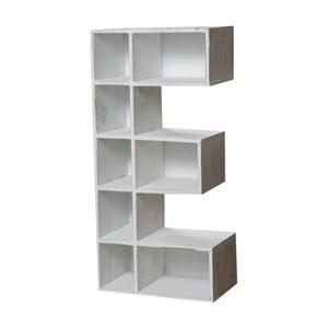 Nástěnná dřevěná bílá knihovna Biscottini Julie
