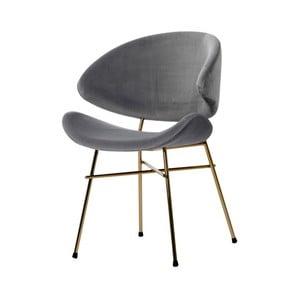 Šedá židle nohami ve zlaté barvě Iker Cheri