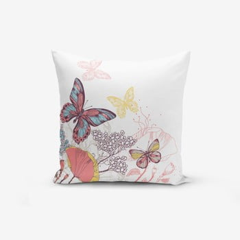 Față de pernă cu amestec din bumbac Minimalist Cushion Covers Special Design Colorful Butterfly, 45 x 45 cm de la Minimalist Cushion Covers