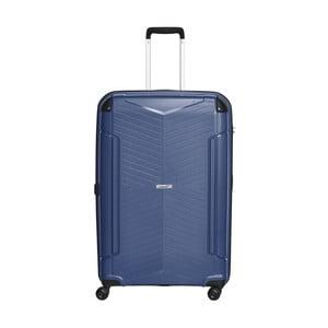 Modrý cestovní kufr Packenger, 109 l