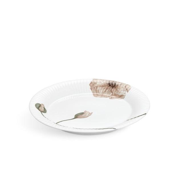 Bílý porcelánový talíř Kähler Design Hammershøi Poppy, ø27cm