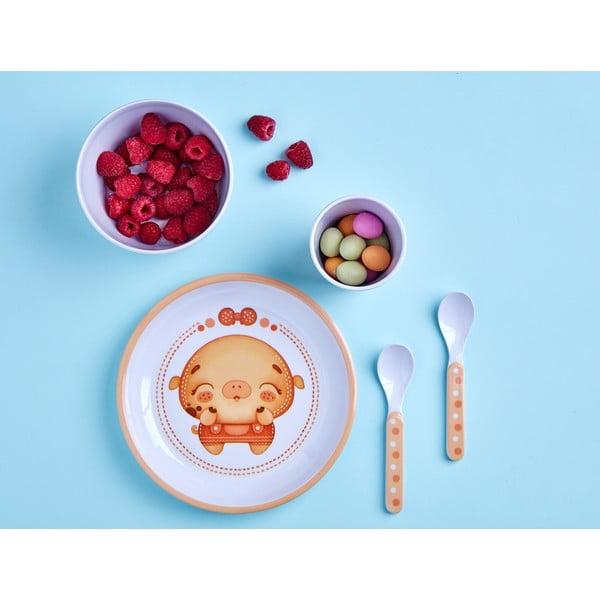 Dětské nádobí Lucky Little Moose Prasátko Phoebe, 5 ks