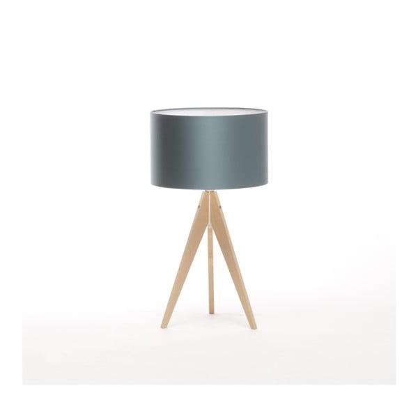 Modrá stolní lampa Artist, bříza, Ø 33 cm