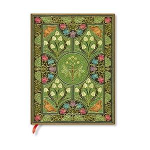 Nelinkovaný zápisník s měkkou vazbou Paperblanks Poetry In Bloom, 18x23cm