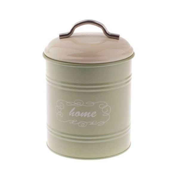 Zelená plechová dóza Dakls Zunna, 1,1 l