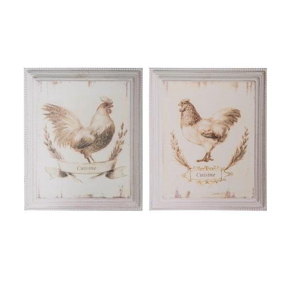 Sada 2 obrázků Antic Line Chicken