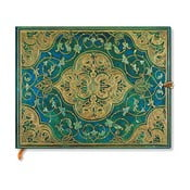 Agendă Paperblanks Turquoise Chronicles, 18 x 23 cm