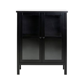 Vitrină cu 2 uși Actona Eton, înălțime99,5cm, negru imagine